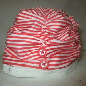 Gymboree Baby Swimcap Orange Striped w/Buttons